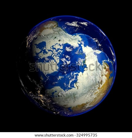 Earth Elements of this image furnished by NASA - stock photo