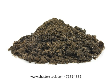 Earth for Plant on a white background . - stock photo