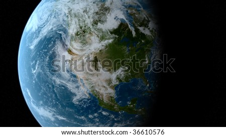 earth from space- illustration