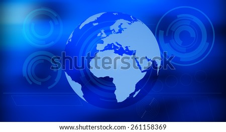 Earth future abstract background