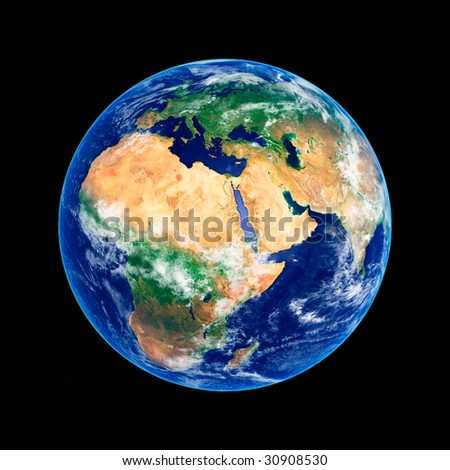 Earth Globe, Africa and Europe, high resolution image - stock photo