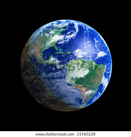 Earth Globe (America), high resolution image - stock photo