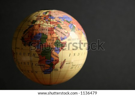 Earth Globe And Space For Text