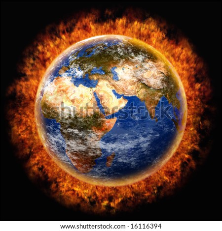 earth,globe,flame,fire,heat,climate warming