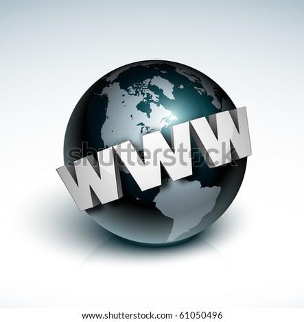 earth globe internet - stock photo
