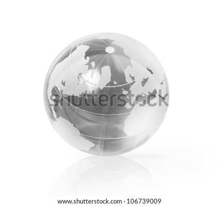 Earth Globe on white background - stock photo