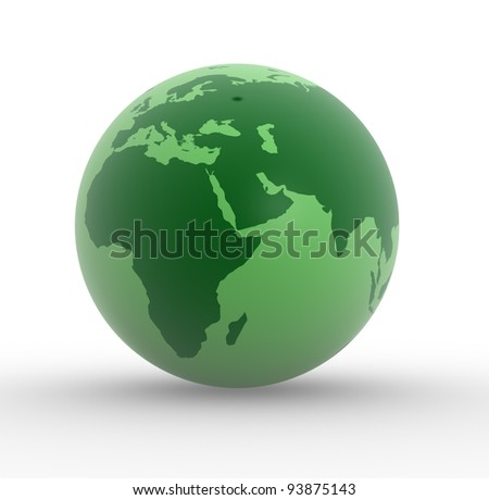 Earth globe. This is a 3d render illustration - stock photo