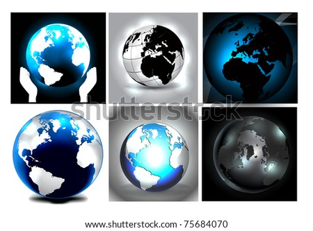 Earth Globes - stock photo