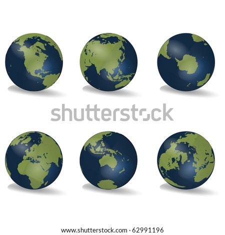 Earth Globes Continent - stock photo