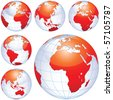 Earth globes isolated on white. This illustration is perfect for a variety of different design projects. - stock photo