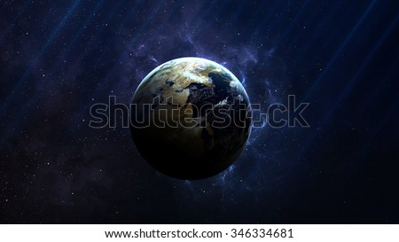 Earth - High resolution best quality solar system planet. All the planets available. This image elements furnished by NASA.