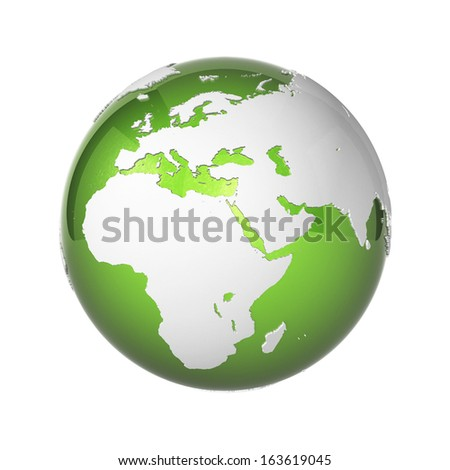 Earth icon - stock photo