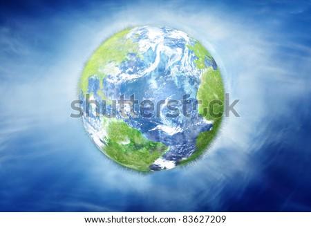 Earth illustration - stock photo