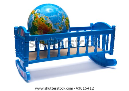 Earth in bed - stock photo