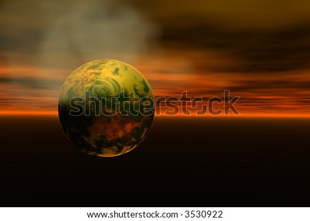 Earth in cloud of hot gas map courtesy nasa - stock photo