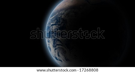 earth in coming up from the dark - stock photo