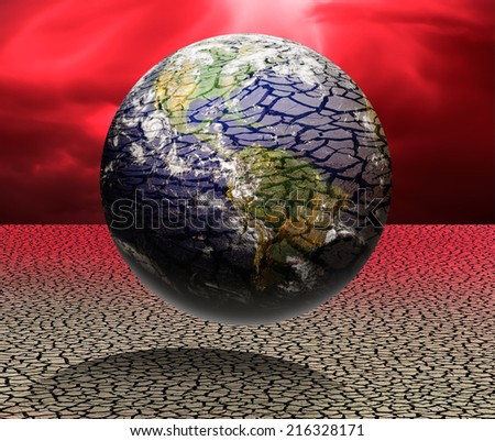 "Earth in desert ""Elements of this image furnished by NASA ""  - stock photo"