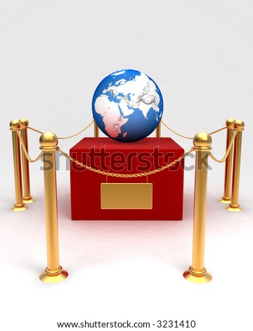 earth in museum - stock photo