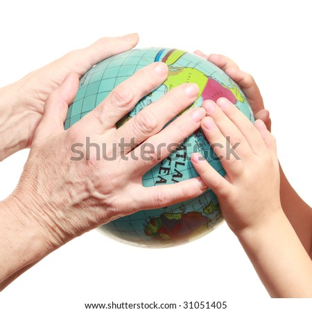 Earth is in our hands - stock photo