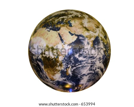 earth isolated - stock photo