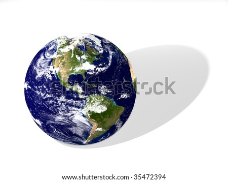 Earth isolated 3d render image - stock photo
