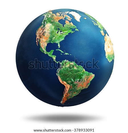 earth isolated on white