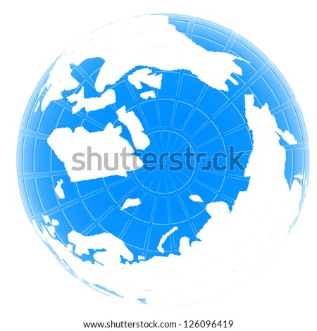 Earth Isolated on white background