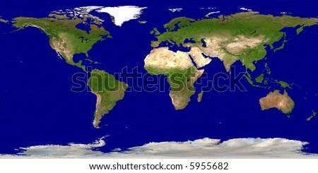 Earth map - stock photo