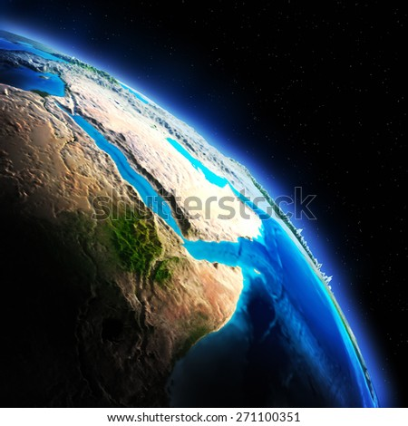 Earth map. Elements of this image furnished by NASA - stock photo