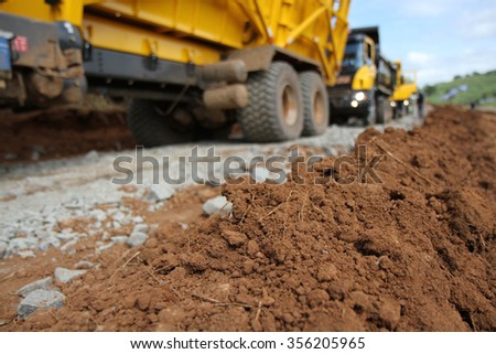 Earth-moving equipment - stock photo
