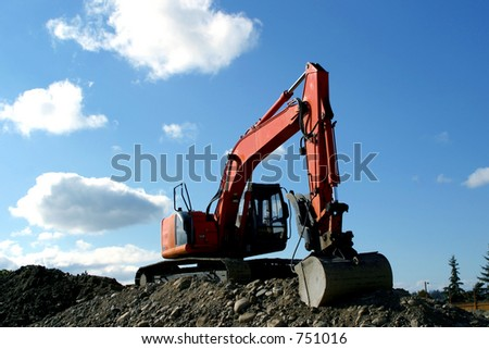 earth moving excavator