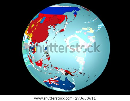 Earth, national flag, Japan, Asia, China, Australia