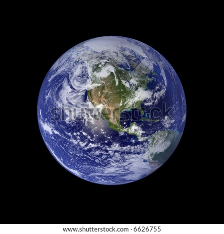 Earth, North America And Pacific - stock photo