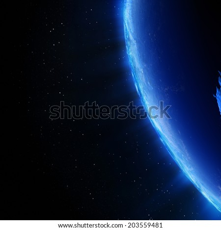 Earth north city lights. Elements of this image furnished by NASA