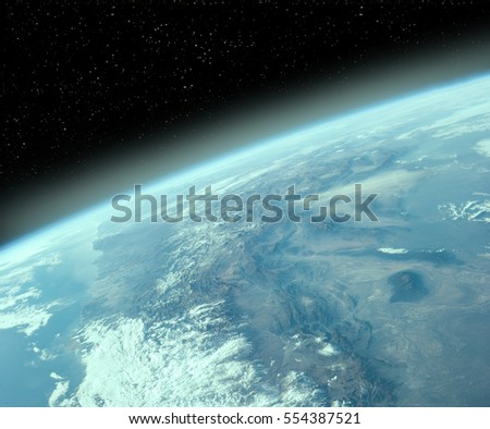 "Earth observation from the outer space. ""The elements of this image furnished by NASA"""