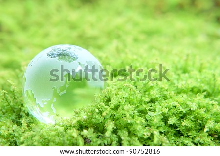 earth on grass - stock photo
