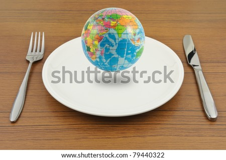 Earth on plate, Ready for eat.
