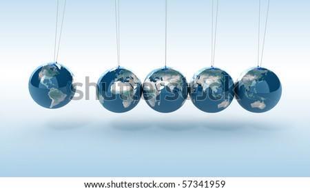 Earth pendulum - stock photo