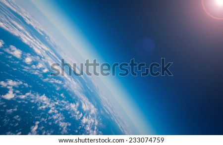 Earth Planet And Sun - stock photo