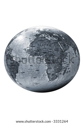 earth, Planet isolated, insulated, white background, for designer, sphere, globe