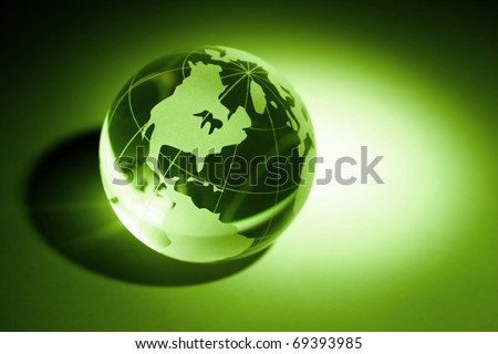 Earth planet,Transparent globe for background - stock photo