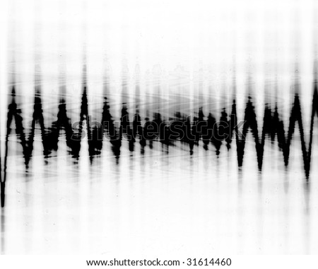 earth quake lines on a white background - stock photo