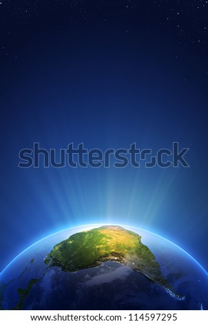 Earth Radiant Light Series - South America  (Elements of this image furnished by NASA- earthmap  http://visibleearth.nasa.gov)