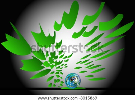 earth radiating greenness - stock photo