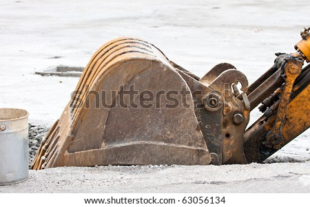 Earth scraper - stock photo