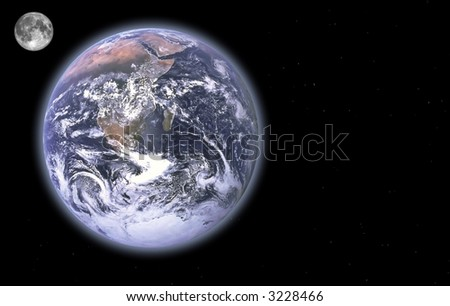 Earth Series - images depicting panoramic scenic shots of our planet; composite images and illustrations