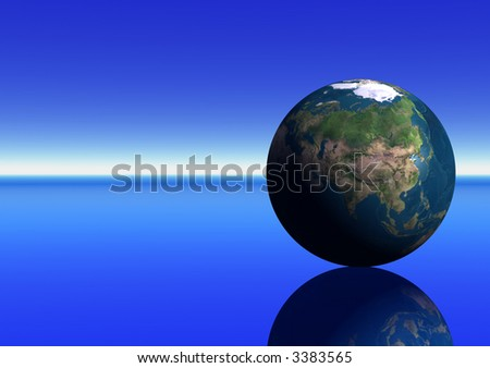 Earth showing India - stock photo