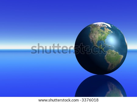Earth showing the Americas - stock photo