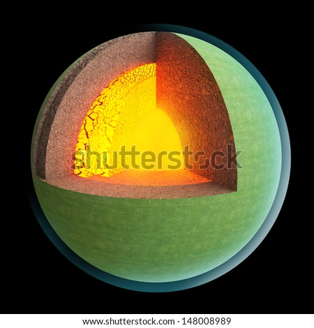 Earth structure layer - stock photo