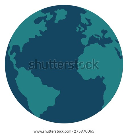 Earth Symbol isolated on white background. - stock photo